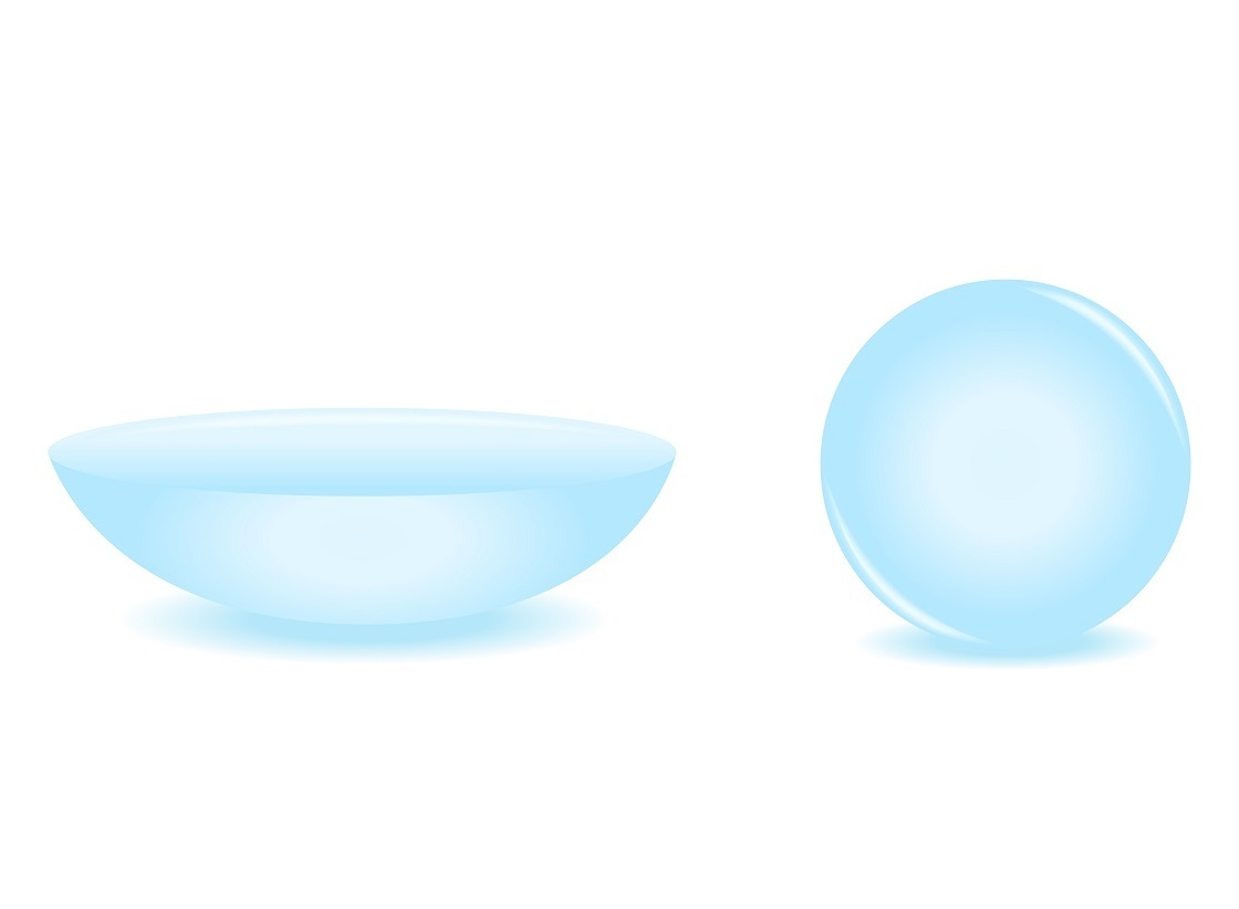 Contact lens for myopic persons